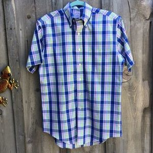 Brooks Brothers Plaid Short Sleeve Button-down Sm